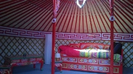 Interieur yourte mongole